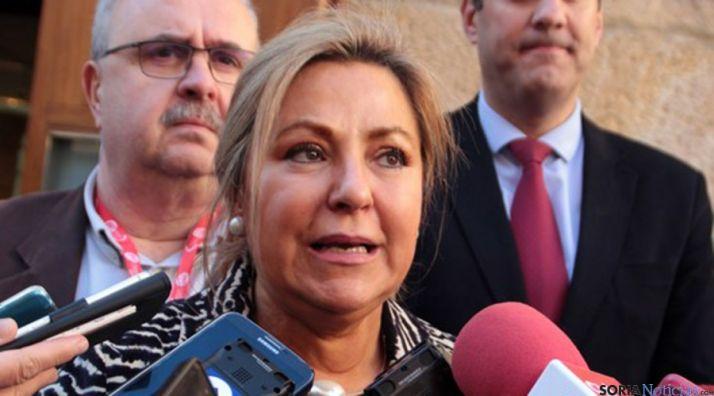La vicepresidenta de la Junta este miércoles en Zamora./SN