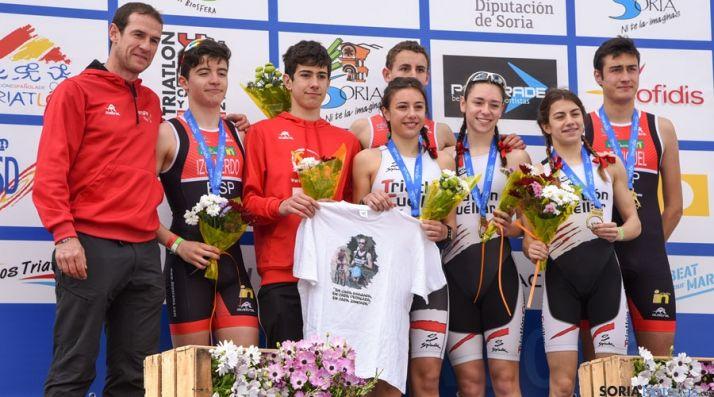 Los deportistas recuerdan a María García. / SN
