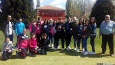 Escolares agredeños en Morón de Almazán.