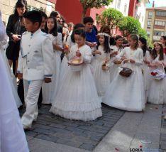 Una imagen de la procesión del Corpus este domingo en Soria. / SN