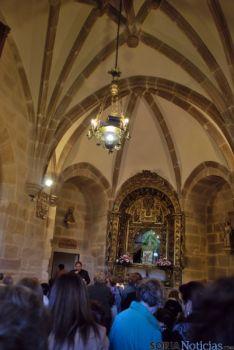 Imagen de la bendición de la ermita este lunes. / SN
