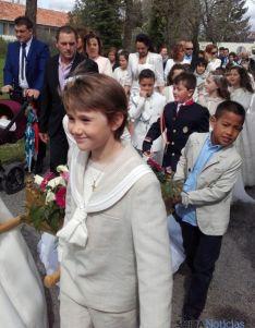 Imagen de la procesión de este martes. / SN