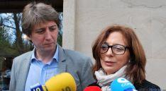 Elena Carrillo y Carlos Martínez, este miércoles. / SN