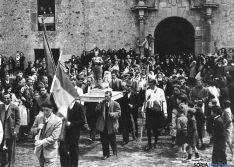 Procesión de San Isidro en El Mirón./Montoya