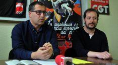José Ángel de Miguel y Gustavo Romeral este viernes. / SN