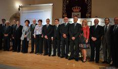 Una de las imágenes de la asamblea de Caja Rural de Soria este viernes. / SN