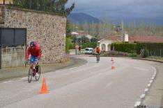 Foto 5 - Peñuela, Lazo y Alba, podium masculino del Campeonato de Duatlon celebrado en Garray