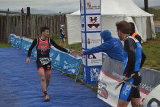 Foto 3 - Peñuela, Lazo y Alba, podium masculino del Campeonato de Duatlon celebrado en Garray