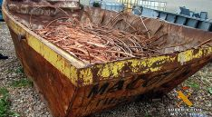 Parte del cobre inacutado por la Guardia Civil. / GC