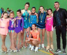 Las patinadoras en Valladolid./CDPS