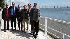 Jorge García, (izda.) Ángel Hernández, Vicent Torres, José Hidalgo, Carlos y Amancio del Castillo.