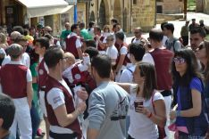 Concentración de 'Los que Faltaban' en la plaza Mayor
