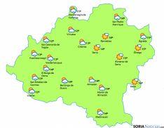 Mapa para este domingo./eltiempo.es