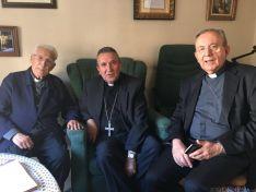 Monseñor Melgar con sus antecesores en Ciudad Real