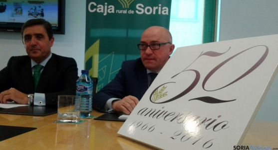 Domingo Barca (dcha.) y Carlos Martínez Izquierdo, este miércoles. / SN