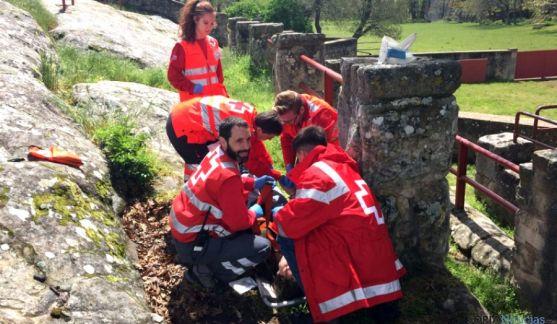 Voluntarios de Cruz Roja Soria, este domingo en Valonsadero. /CRS