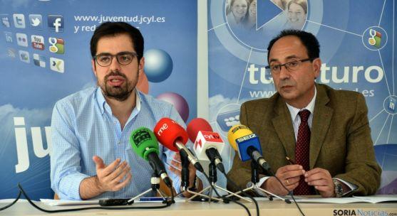 Eduardo Carazo (izda.) y Manuel López este miércoles. / Jta.