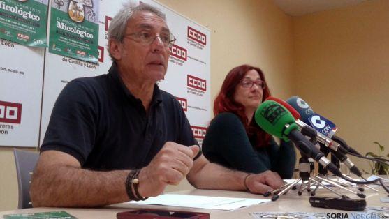 Juan José Catalina este martes en la sede del sindicato en la capital. / SN