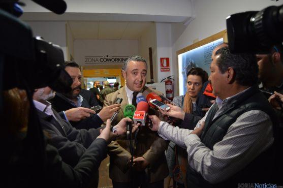 El director general de Emprendimiento Social de la Junta, hoy en Soria.