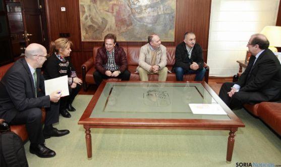 Encuentro entre Herrera y los responsables de UGT. / Jta.