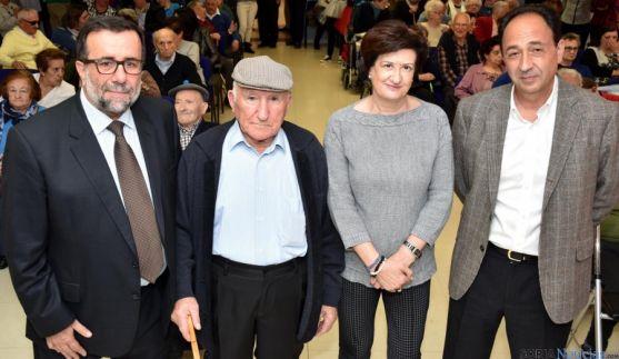 Antonio Valdenebro (izda.), Anastasio Álvaro, Mª Paz Gil y Manuel López