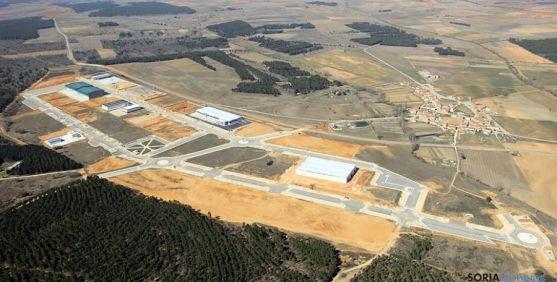 Vista aérea del polígono industrial de Navalcaballo.