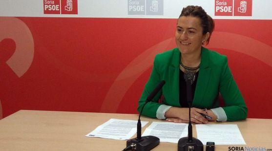 La soriana Virginia Barcones, viceportavoz del PSOE en las Cortes regionales.