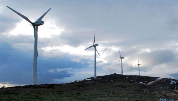 Parque eólico en Camparañón. / SN