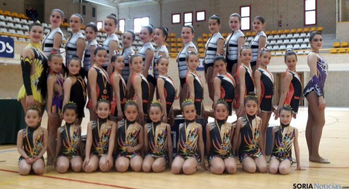 Las jóvenes del Gimnasia Soria./CDGS