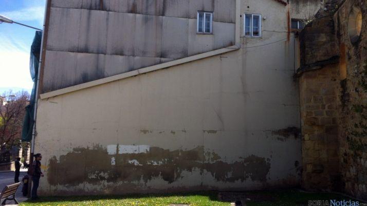 Lugar donde se pintará el mural./Ayto.