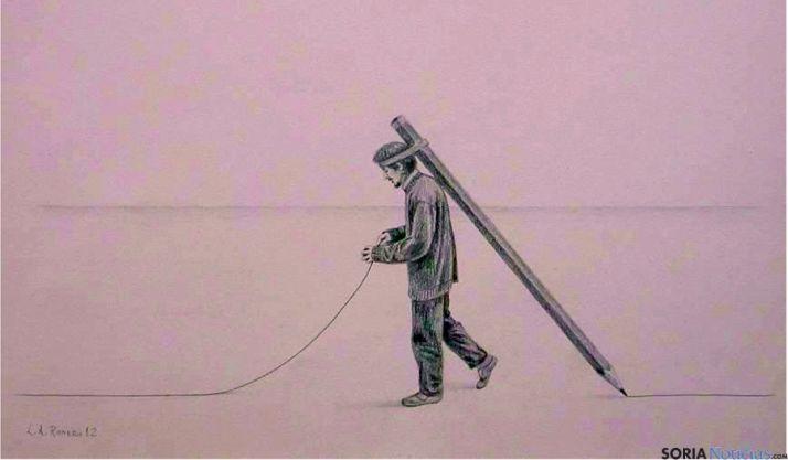 'Soy pintor', una de las obras expuestas.