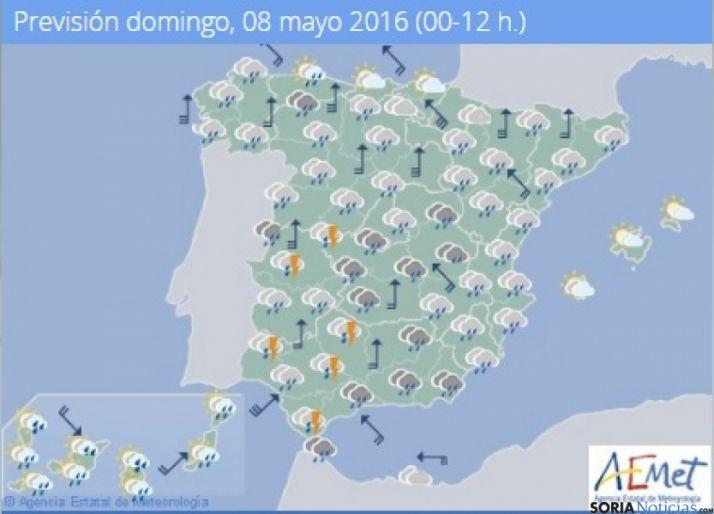 Foto 1 - Más lluvias y chubascos este domingo
