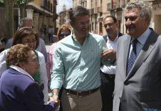 Catalá (ctro.) este lunes en El Burgo./SN