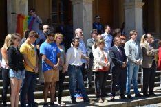 Concentración en Soria contra los atentados de Orlando