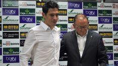 Javier del Pino, con Francisco Rubio, este miércoles. / SN