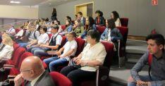 Los alumnos, en el parlamento de la región polaca./RC
