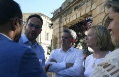 Hernando (izda.), con Antón e Irigoyen./SN