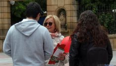 María Irigoyen este viernes en Granados.