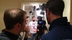Momento de la grabación del vídeo.
