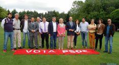 Alcaldes del PSOE este lunes.