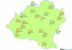 El mapa de eltiempo.es para este jueves.