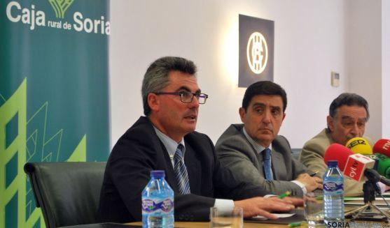 Jesús Manuel Gómez (izda.), Carlos Mtnez. Izquierdo y Anselmo García. / SN