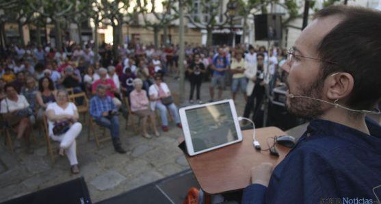 Pablo Echenique, en su visita a Soria esta tarde. / SN