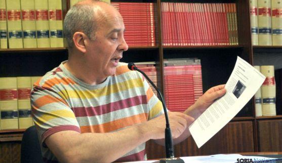 Enrique García, de IU, este lunes. / SN