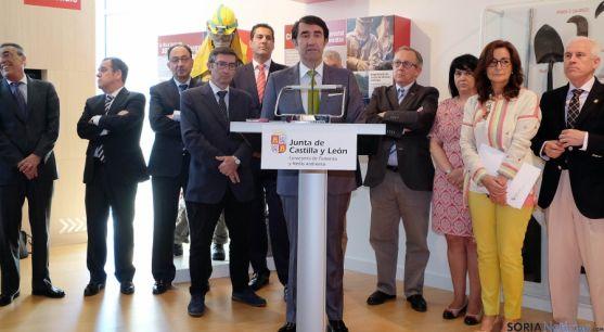El consejero de Medio Ambiente J. Carlos Suárez-Quiñones (ctro.)/Jta.