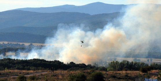 Imagen de un incendio forestal el año pasado en Soria./SN