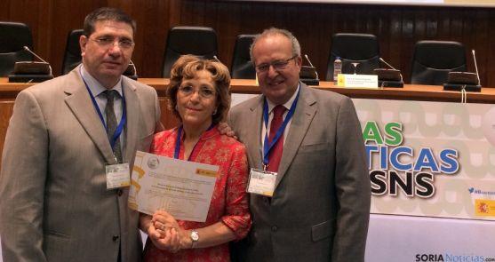 José María Sierra (izda.), Esperanza Martínez y Enrique Delgado. / Jta.