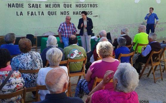 Magdalena Valerio este martes en La Barriada./SN