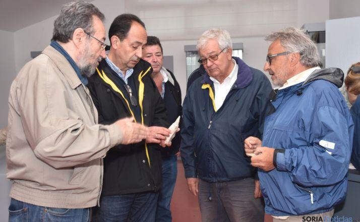 Carlos de la Casa, Manuel López, Felipe Utrilla (alcalde de Medinaceli) y los directores Alfredo Pérez y Manuel Santonja