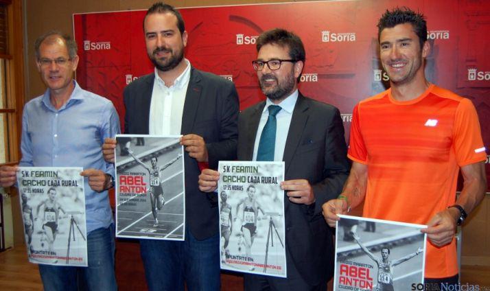 Antón, (izda.), Hernández, Munilla y Andrés. / Ayto.